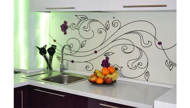 Объемным рисунком своими на кухню